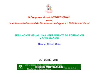 III Congreso Virtual INTEREDVISUAL sobre