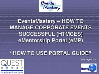 EventsMastery – HOW TO MANAGE CORPORATE EVENTS SUCCESSFUL (HTMCES)