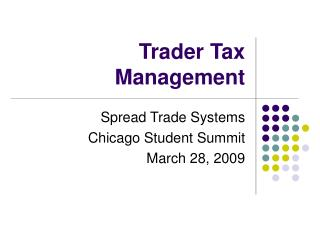 Trader Tax Management