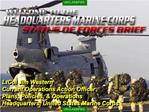 LtCol Jim Western Current Operations Action Officer Plans, Policies,  Operations  Headquarters, United States Marine Cor