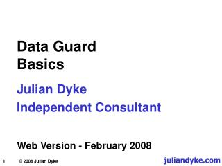 Data Guard Basics