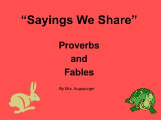 Sayings We Share