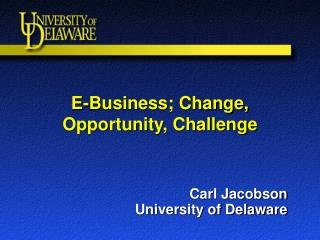 E-Business; Change, Opportunity, Challenge