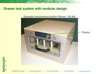 Drawer test system with modular design