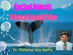 Dr. Mohanad Abu Sabha