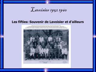 Lavoisier 1952 1960