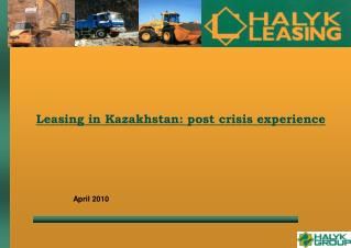Leasing in Kazakhstan: post crisis experience