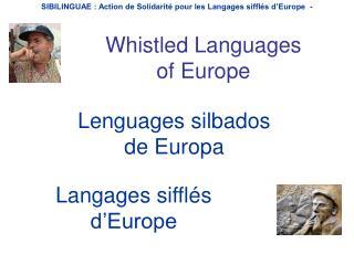 Lenguages silbados  de Europa