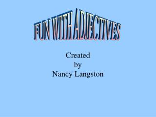Created  by Nancy Langston