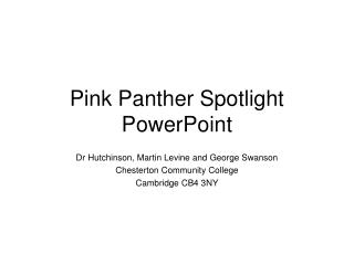 Pink Panther Spotlight PowerPoint