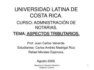 UNIVERSIDAD LATINA DE COSTA RICA.