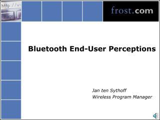 Bluetooth End-User Perceptions