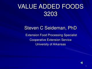 VALUE ADDED FOODS 3203