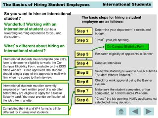 What ' s different about hiring an international student?