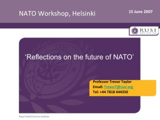 NATO Workshop, Helsinki