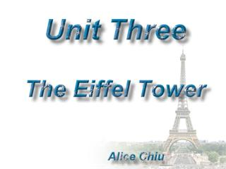 Activity One:  Let's Go to the Eiffel Tower Activity Two:  Wonders of the World