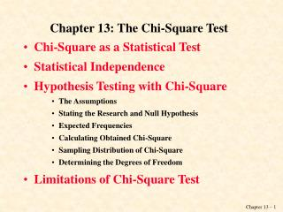 Chapter 13: The Chi-Square Test