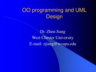 OO programming and UML Design