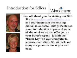 Introduction for Sellers