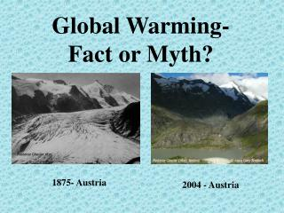 Global Warming- Fact or Myth?