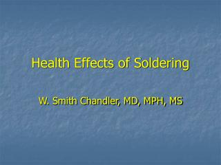 Health Effects of Soldering