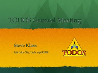 TODOS General Meeting