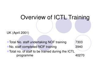 Overview of ICTL Training