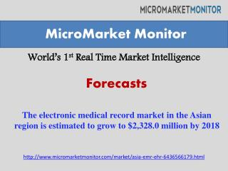 The electronic medical record market in the Asian region is