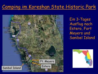 Camping im Koreshan State Historic Park