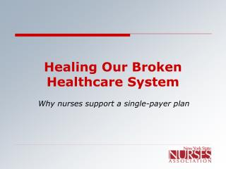 Healing Our Broken Healthcare System