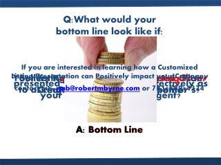 Q:What would your  bottom line look like if: