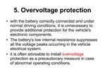 5. Overvoltage protection