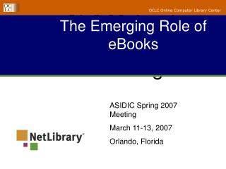 The Emerging Role of eBooks