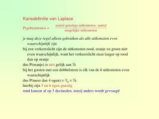 Kansdefinitie van Laplace