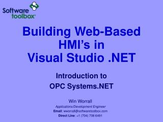 Building Web-Based HMI's in Visual Studio .NET