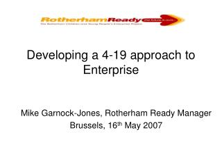 Developing a 4-19 approach to Enterprise