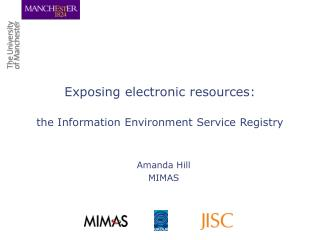 Exposing electronic resources: the Information Environment Service Registry