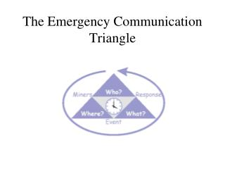 The Emergency Communication Triangle