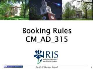 Booking Rules CM_AD_315