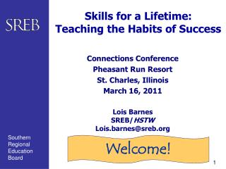 Skills for a Lifetime: Teaching the Habits of Success
