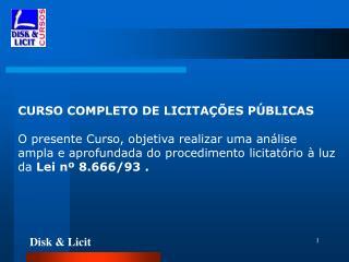 CURSO COMPLETO DE LICITAÇÕES PÚBLICAS