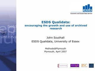 ESDS Qualidata: encouraging the growth and use of archived research