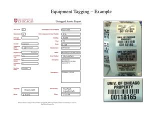 Equipment Tagging – Example