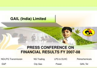 PRESS CONFERENCE ON  FINANCIAL RESULTS FY 2007-08