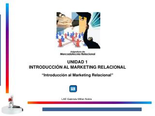 UNIDAD 1 INTRODUCCIÓN AL MARKETING RELACIONAL