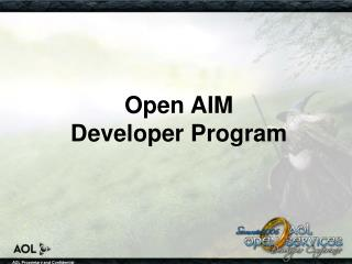 Open AIM  Developer Program