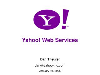 Yahoo! Web Services