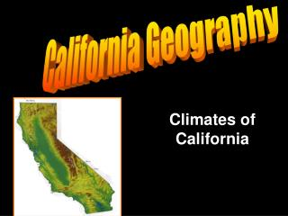 Climates of California