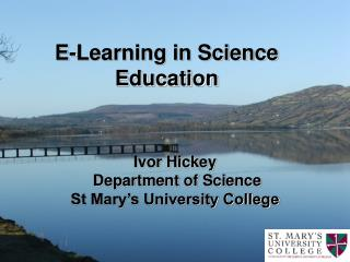 E-Learning in Science Education