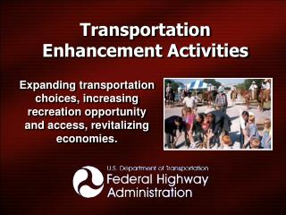 Transportation Enhancement Activities